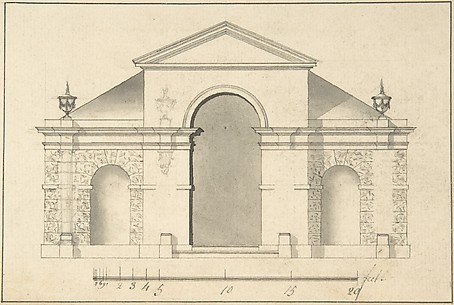 Elevation of Garden Pavilion