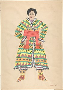 Theater costume design for Asiatic female