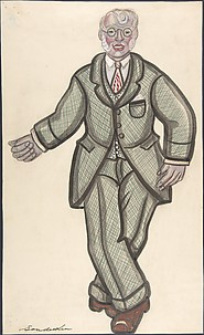 Man in a checkered suit