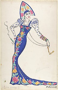 Oriental costume design for elegant woman