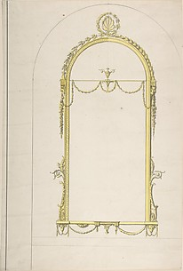 Design for a Pier-glass with Arched Head and Palmette Terminations