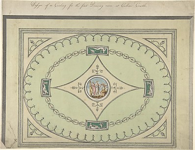 Design for a Ceiling for the First Drawing Room at Culzean Castle, Ayrshire