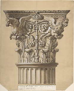 The British Order: Elevation of a Capital and Part of the Fluted Shaft