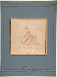 Design for a Medal: Bâtiments du Roy, 1740