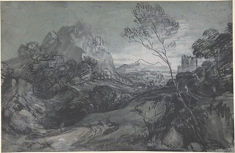 Mountain Landscape with Figures and Buildings