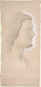 Head of a Saint (profile to the right), after Fra Angelico