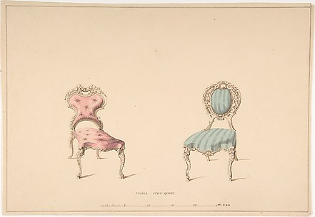 Design for Chairs, Louis Quinze Style