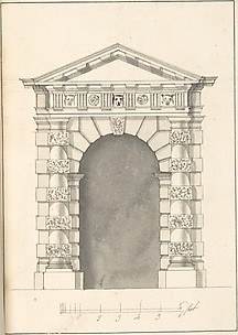 Elevation of Rustic Doric Doorway
