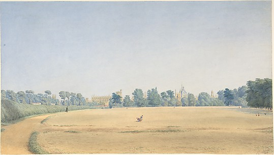 View of University Park looking towards New College, Oxford