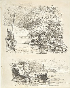 Two Sketches of Boats