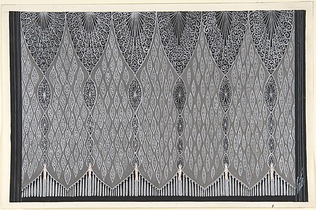Design for Silver and Black Curtain (Deuxième Voile) for