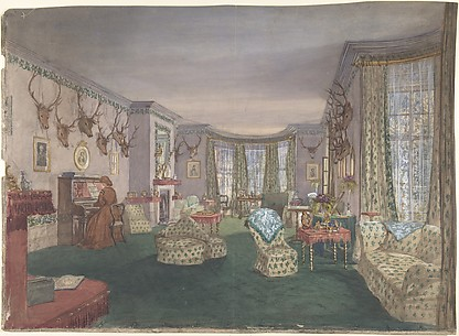 Drawing Room at Mar Lodge, Parish of Craithe and Braemar, Aberdeenshire