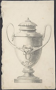 Design for a Lidded Vase with Lion's Head Boss