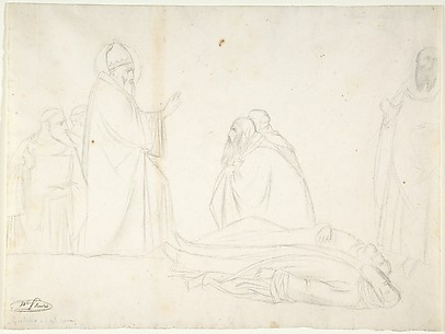 Miracle of St. Sylvester; the Raising of Two Pagan Priests, after Maso di Banco, S. Croce, Florence