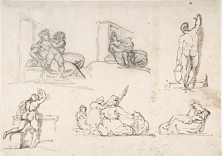 Six Figure Studies, including four for The Poor Italian Family