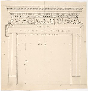 Design for a Marble Fireplace