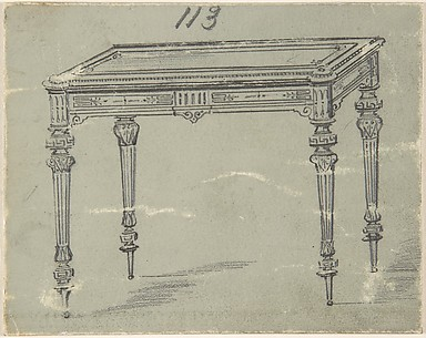 Design for a Small Rectangular Table with Greek Ornament