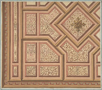 Design for Ceiling, Château de Cangé