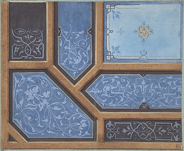 Design for Dining Room Ceiling, Château de Cangé