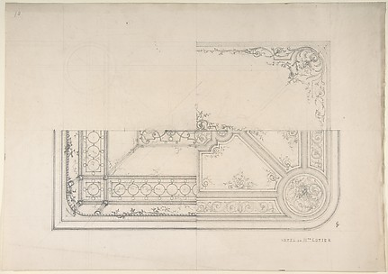 Three Designs for Ceilings, Hôtel Cottier