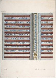 Design for Ceiling, Château de St. Aubin
