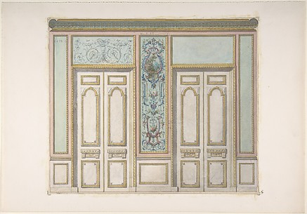Design for a Pair of Doors Joined by an Ornamental Panel