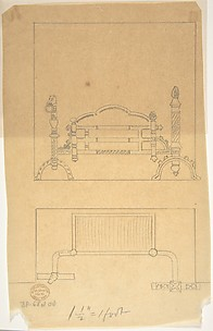 Design for Grate, with Plan