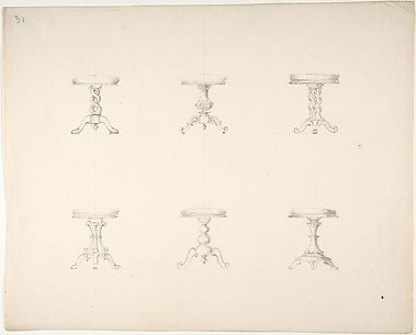 Design for Six Tripod Tables