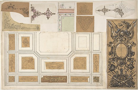 Nine Miscellaneous Designs for the de la Rochejaqulein Family