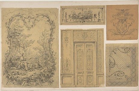 Five Miscellaneous Designs for the de la Rochejaquelein Family