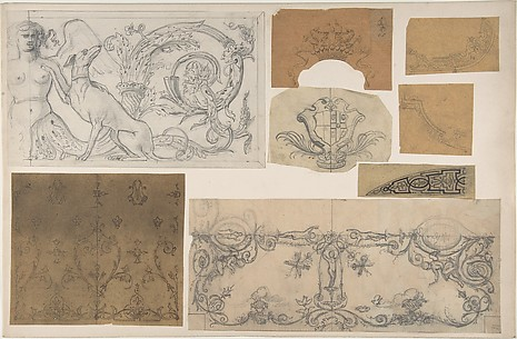 Eight Miscellaneous Designs for the de la Rochejaquelein Family