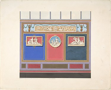 Painted Wall Decor Featuring Three Medallions