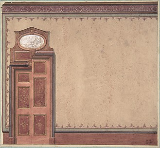 Pompeiian Design for Wall and Doorway