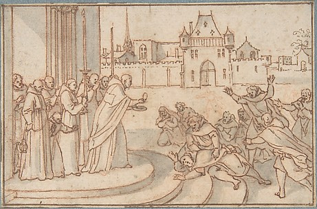 Saint Bernard presenting the host to Guillaume X, duc de Guyenne