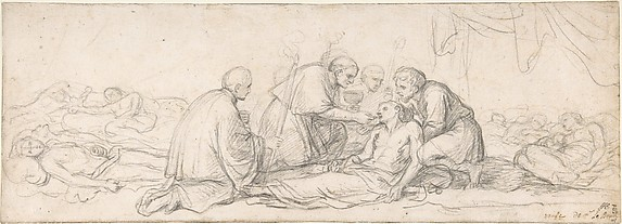 St. Charles Borromeo Giving Communion to the Plague-Stricken