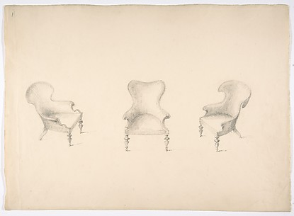 Design for Three Low Uphostered Arm Chairs