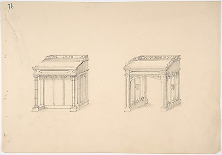Design for Two Gothic Desks