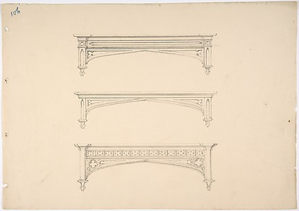 Design for Three Gothic Pediments