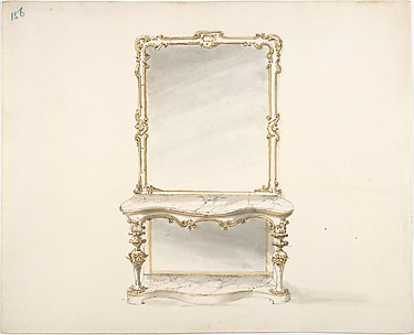 Design for a Mirrored Marble Table Ornamented with Gold