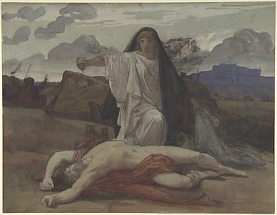 Antigone Gives Token Burial to the Body of Her Brother Polynices