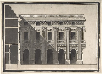 Design for the Garden Façade of the Palais Royal