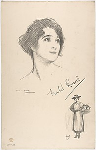 Portrait Head of the actress Mabel Russell, also shown full-length in costume