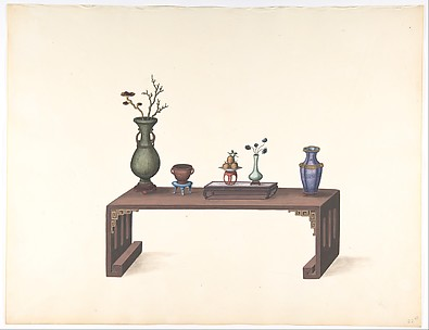 Low Table with Vases