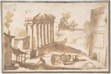 Landscape with a Ruined Temple