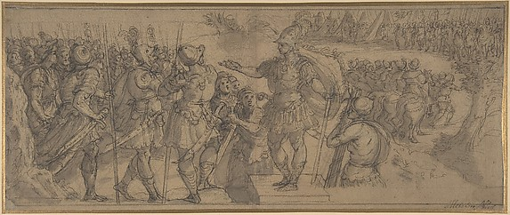 Design for a Narrative Frieze:  A Commander Addressing His Troops