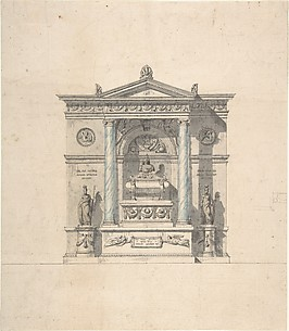 Elevation for a Wall Tomb