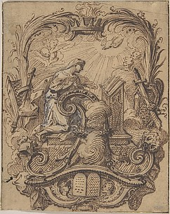 Study for a Decorated Initial A with the Annunciation