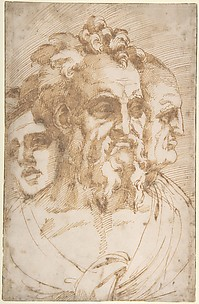Three Male Heads