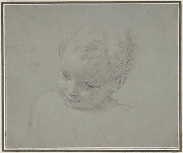 Bust-Length Study of a Child