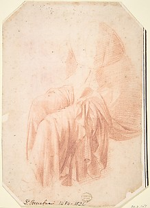Study of Drapery (Probably After the Antique )